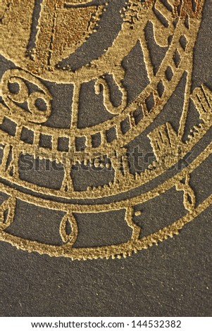 a fragment of an astronomical clock, fine sand look