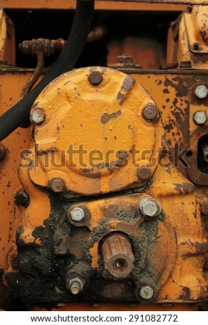 a fragment of the heavy tractor transmission abstract background