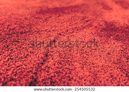 A Fragment of wool carpet close up - stock photo