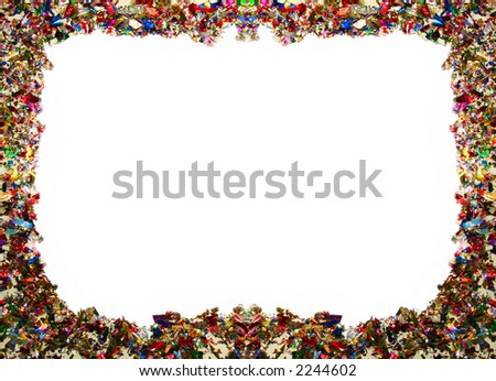 A frame made from colorful confetti. - stock photo