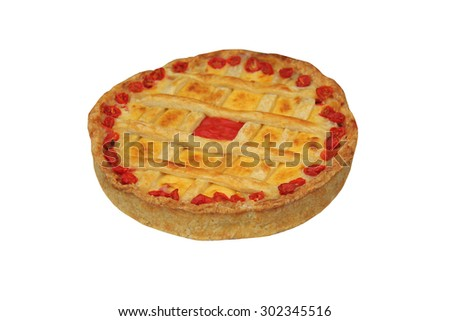 A Fresh and Tasty Cheese and Tomato Quiche. - stock photo