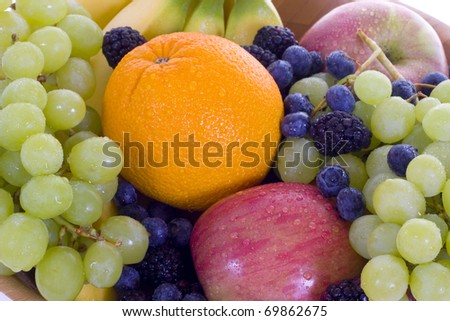 A fresh bowl of fruit. - stock photo