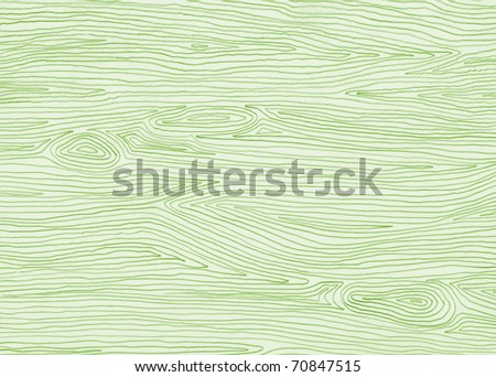A fresh hand drawn wood pattern background in spring green.