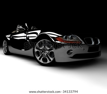 A front black car - stock photo
