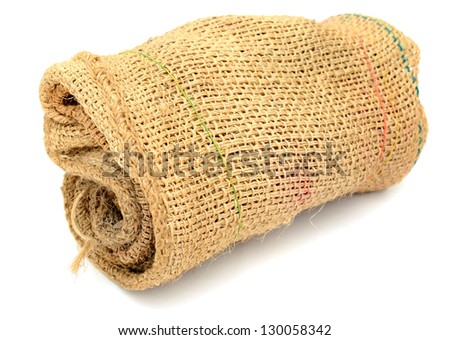 A full roll sack bag isolated on white