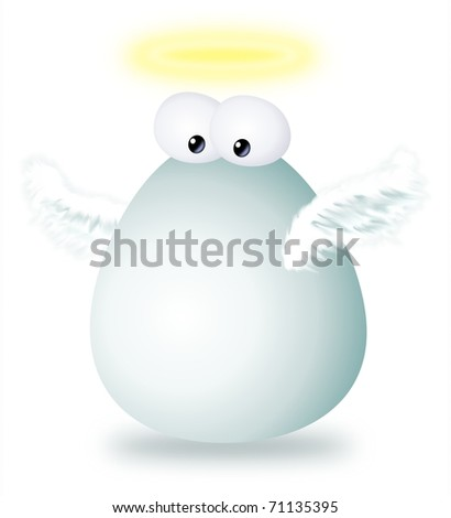 a funny angel cartoon character