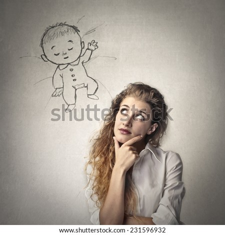 A future mom  - stock photo