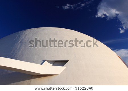 A futuristic Museum in Brasilia - stock photo
