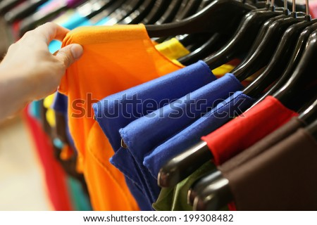 a garment in store - stock photo