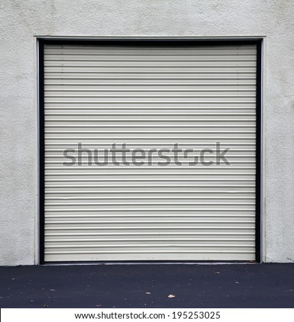 A Genuine Aluminum Warehouse Garage Roll Up Door And Entrance Door. Many  Warehouses And Office