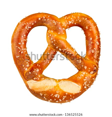 a german pretzel - stock photo