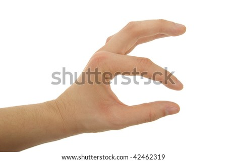 a gesturing hand photo isolated - stock photo