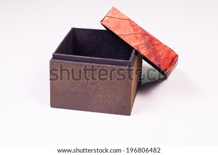 a gift box isolated on white. - stock photo