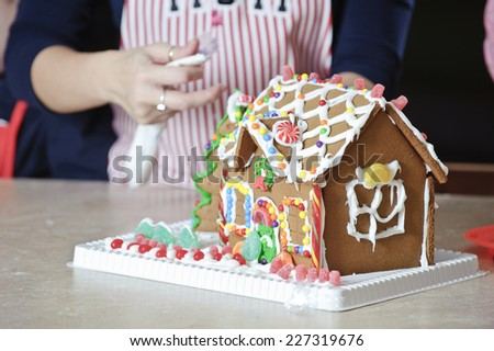 a gingerbread house / perhaps you didn't hear me / a gingerbread house