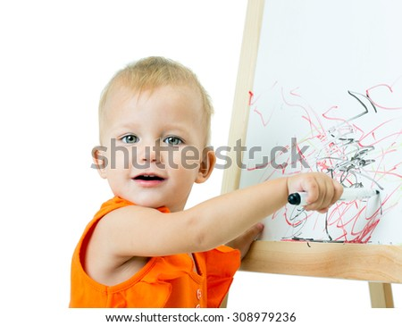 A girl of fifteen months old, in the studio