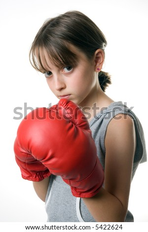 A girl taking self defence class