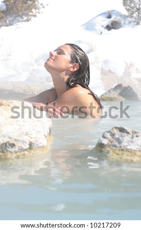 A girl who truly couldn't look any more at peace... - stock photo