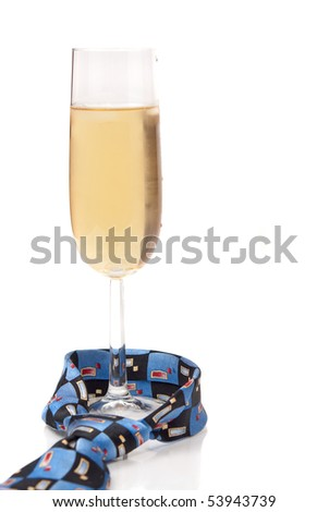 A Glass Of Champagne For Daddy ( Fathers Day ) - stock photo