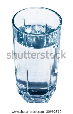 A glass of fresh and clear water