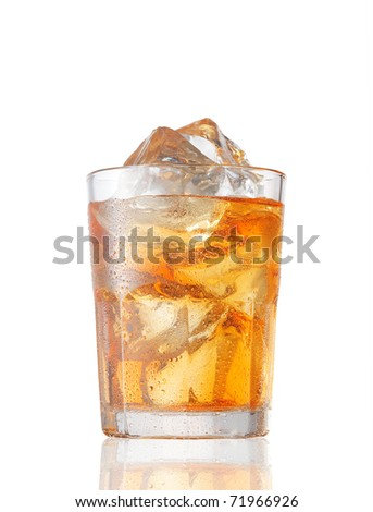 A glass of Ice Tea on white.