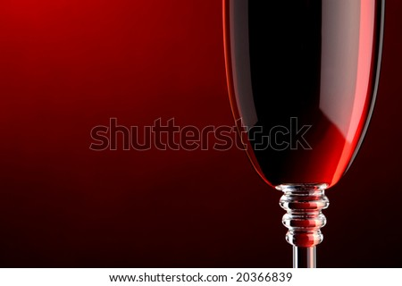 a glass of red wine detail