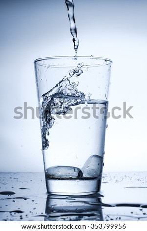 a glass of water eco-friendly product to promote.