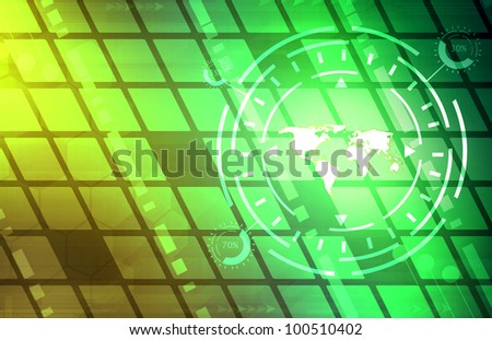 A Global Business Abstract blue Background Art Texture - stock photo