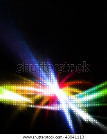 A glowing rainbow colored illustration that works great as a background or backdrop.