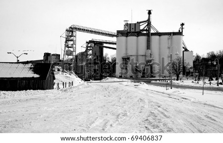 a grain mill or factory - stock photo