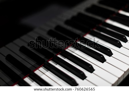 Grand Piano Keybord Red Stripe Nr 3 Stock Photo (Safe to Use ...