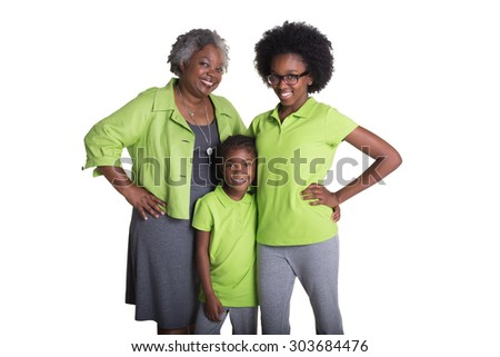 A grandmother and her granddaughters