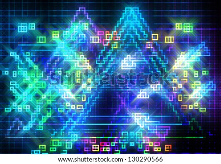 a graphic of colorful glitter shiny disco lights graphic  background