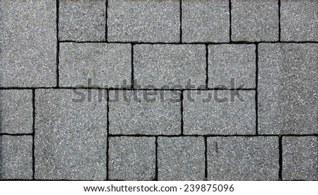A gray concrete pavement texture. - stock photo