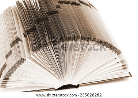 a great book on a white background - stock photo