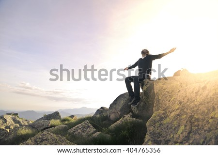 A great feeling - stock photo
