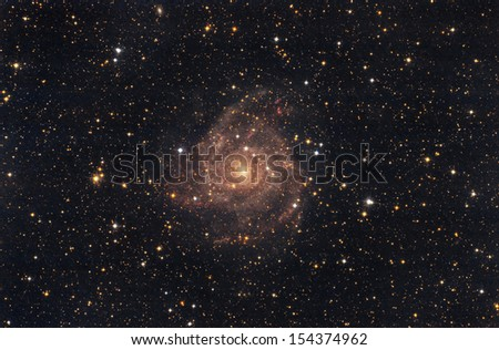 A great galaxy in the sky - stock photo