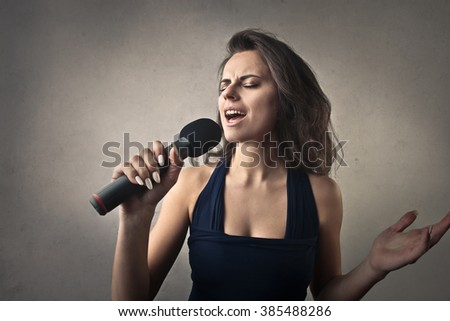 A great singer - stock photo
