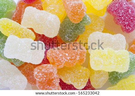 a great variety of gummies, for being used as background - stock photo