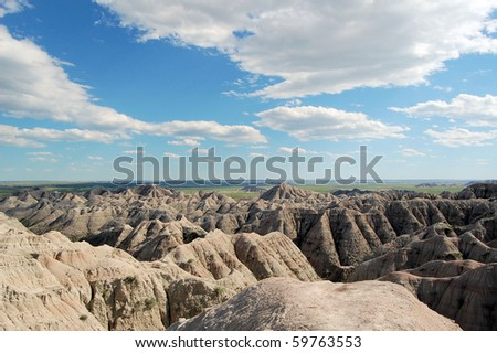 A great view of Badlands - stock photo