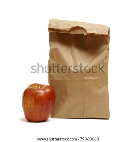 A great way to save money is by brown bagging it to work or school and its usually healthier too. - stock photo