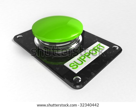 A green button with the words Support