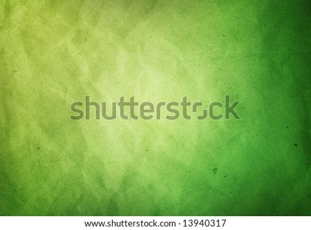 A Green Paper textured Grunge background - stock photo