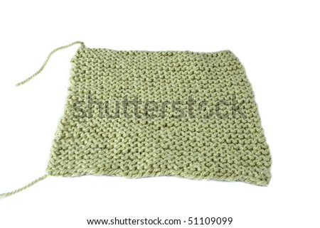 A green square on a white background. This is not isolated. - stock photo