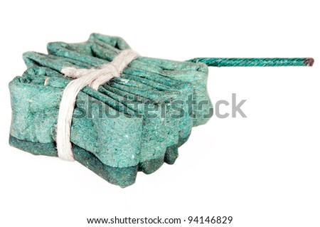 a green squib isolates before white background - stock photo