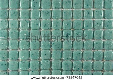 A Green Stone Tiles Background - stock photo