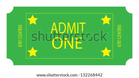 A Green Ticket - stock photo