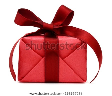 A greeting wrapping gift box - stock photo