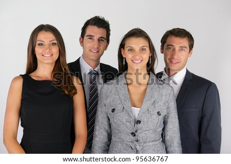 A group of businesspeople - stock photo