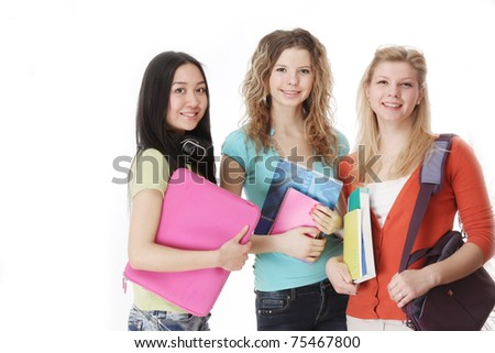 A group of college friends - stock photo