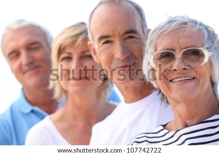 A group of friends - stock photo